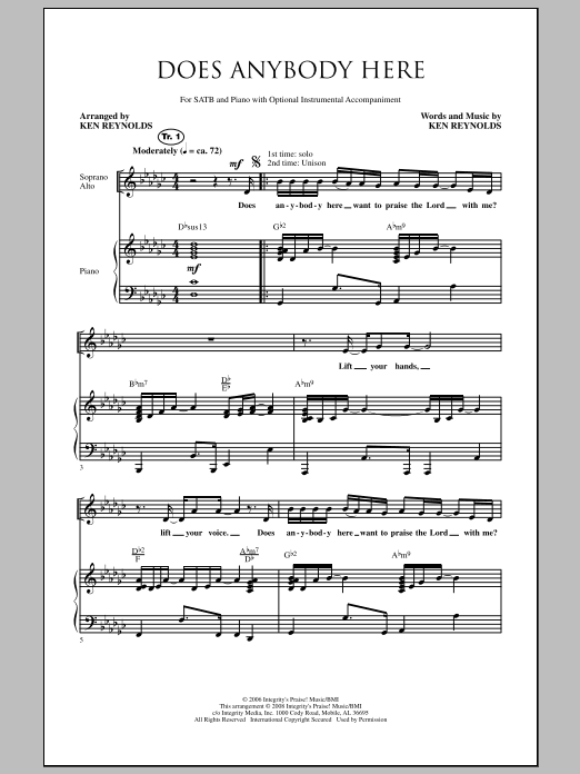 Does Anybody Here Sheet Music