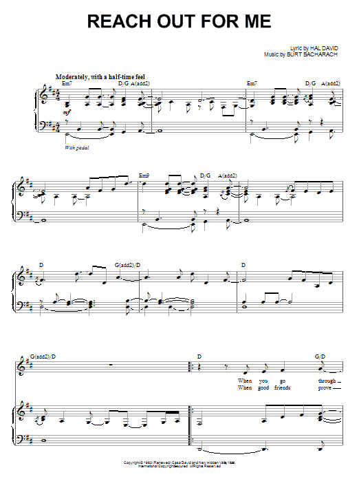 Reach Out For Me Sheet Music