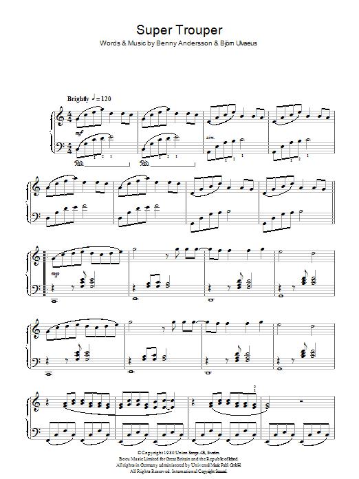 Super Trouper (Piano Solo)