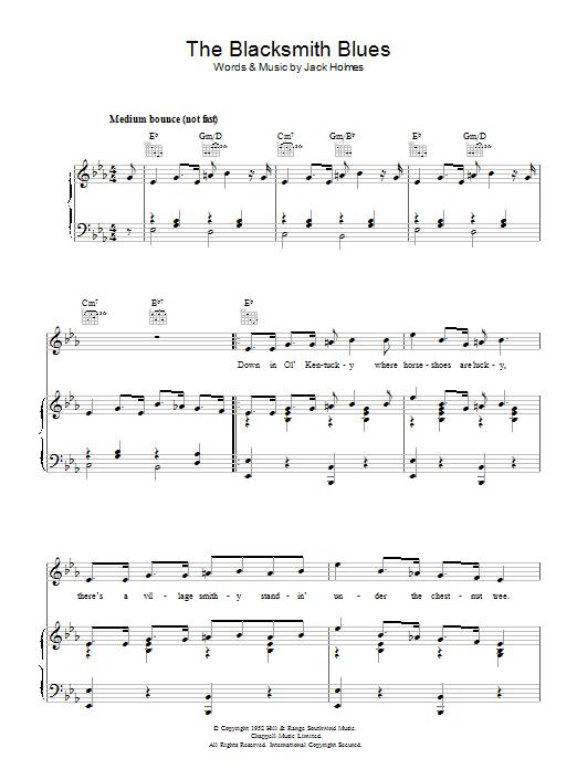 The Blacksmith Blues Sheet Music