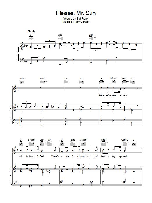 Please, Mr. Sun Sheet Music