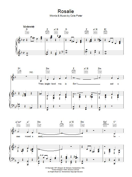 Rosalie (Piano, Vocal & Guitar)