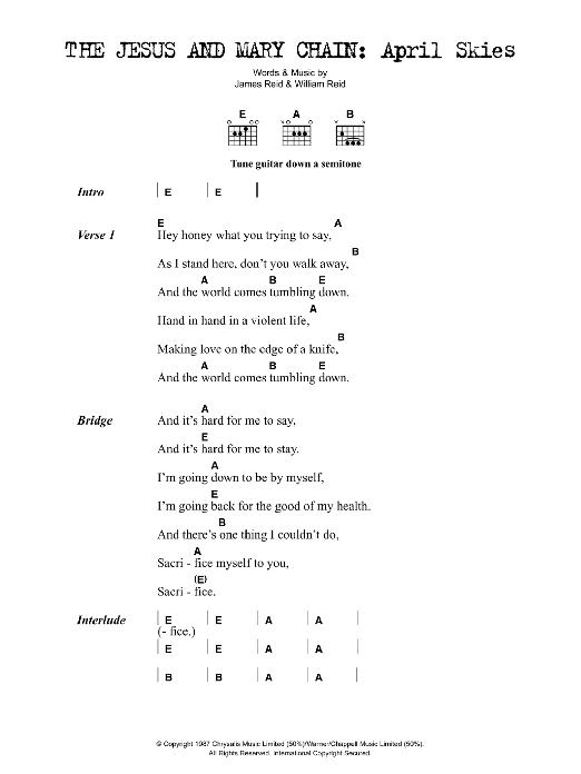 April Skies Sheet Music