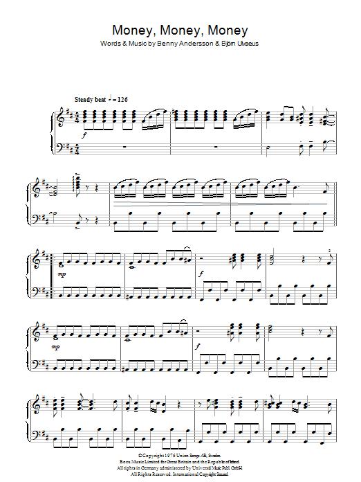Money, Money, Money (Piano Solo)