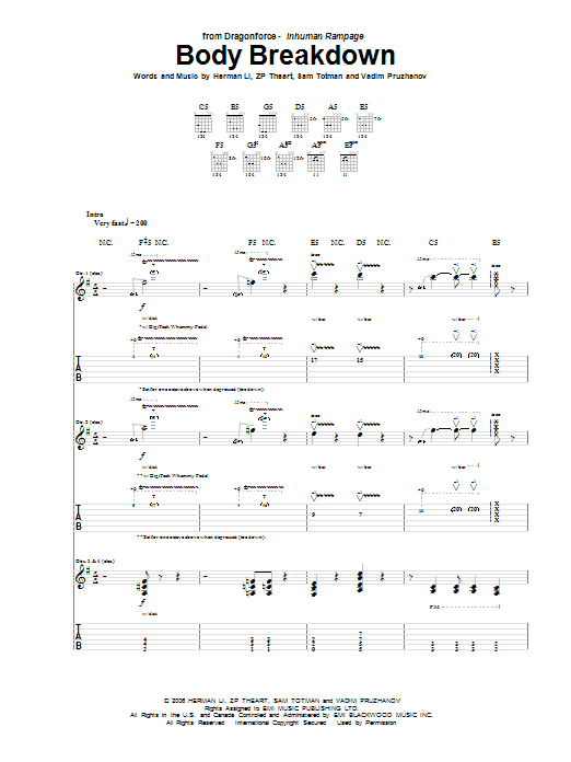 Body Breakdown (Guitar Tab)