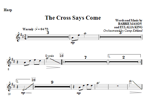 The Cross Says Come - Harp (Choir Instrumental Pak)