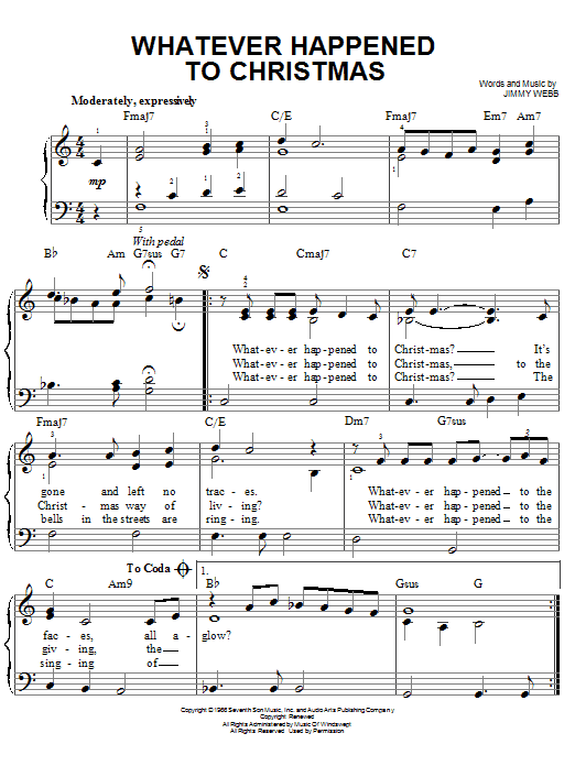 Whatever Happened To Christmas Sheet Music