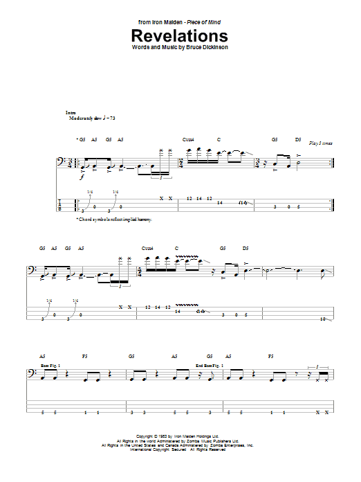 Revelations Sheet Music