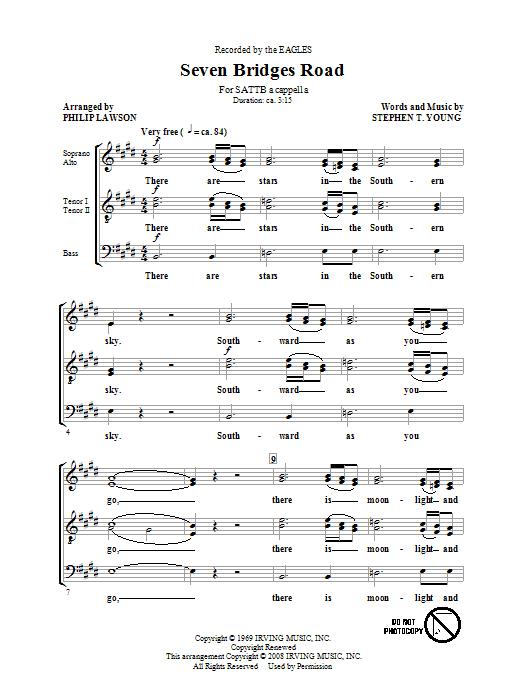 Seven Bridges Road (arr. Philip Lawson) Sheet Music
