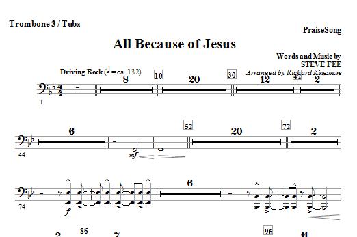 All Because Of Jesus - Trombone 3/Tuba Sheet Music