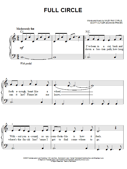 Full Circle Sheet Music