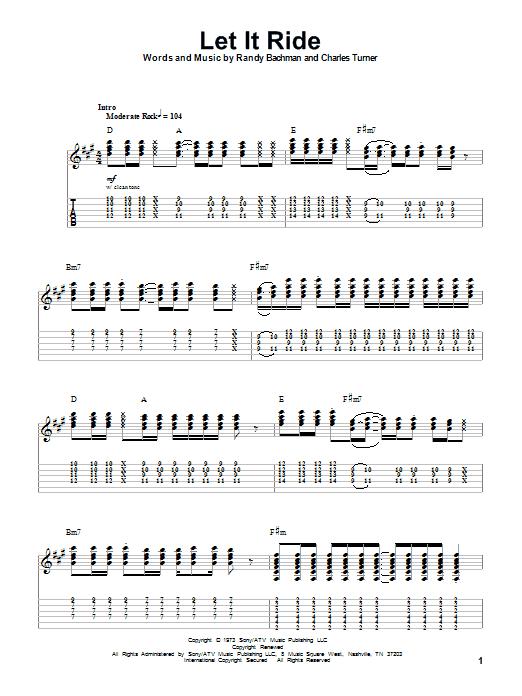 Let It Ride (Guitar Tab (Single Guitar))