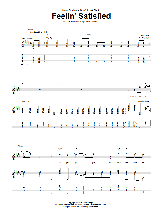 Feelin' Satisfied (Guitar Tab)