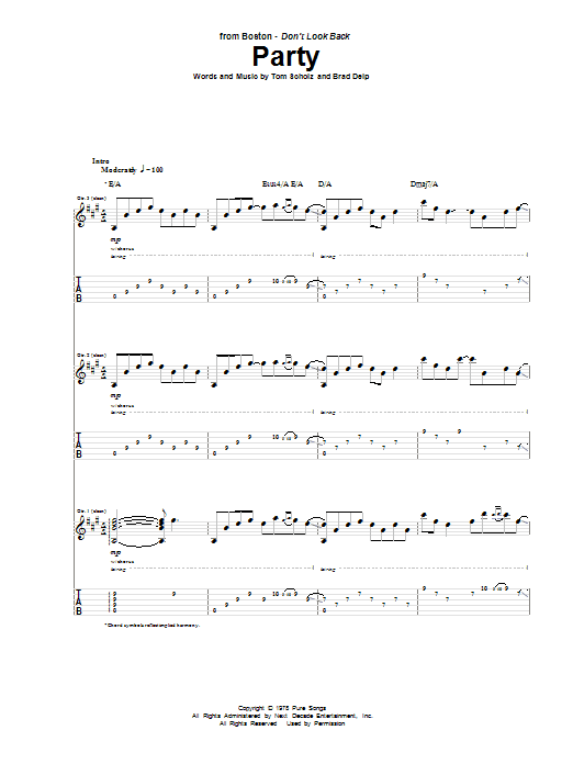 Party (Guitar Tab)