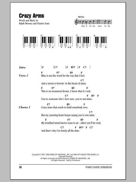 Crazy Arms Sheet Music