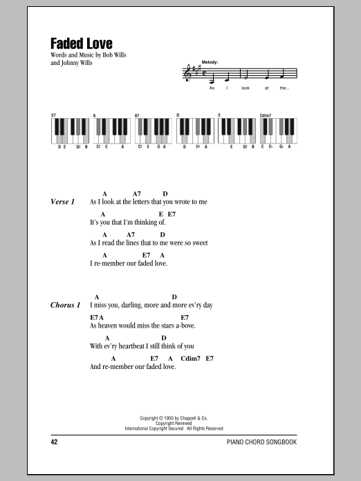 Faded Love Sheet Music