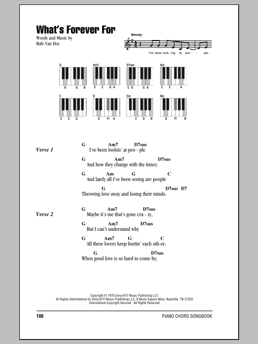 What's Forever For (Piano Chords/Lyrics)