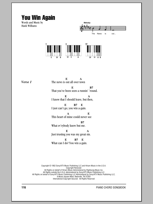 You Win Again Sheet Music