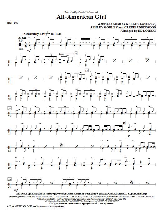 All-American Girl - Drums (Choir Instrumental Pak)