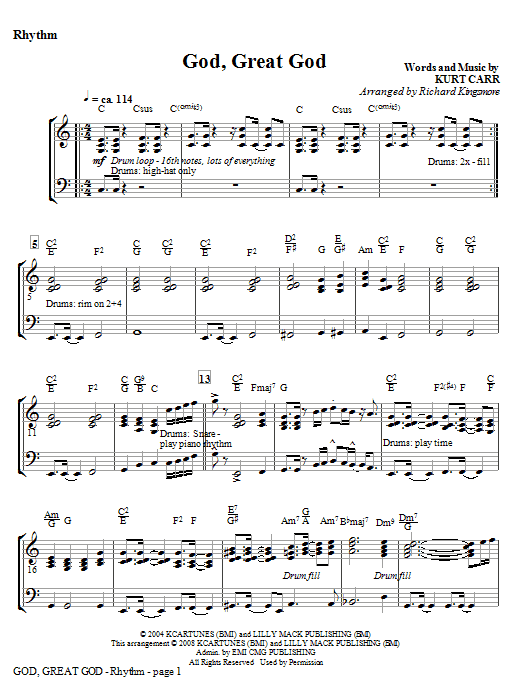 God, Great God - Violin 1 & 2 Sheet Music