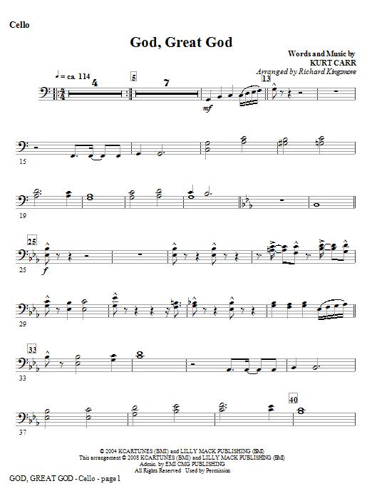 God, Great God - Double Bass Sheet Music