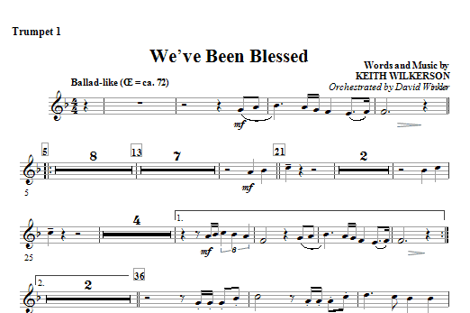 We've Been Blessed - Trumpet 1 Sheet Music
