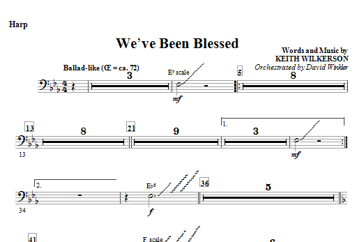 We've Been Blessed - Harp Sheet Music