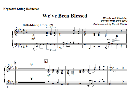 We've Been Blessed - Keyboard String Reduction Sheet Music