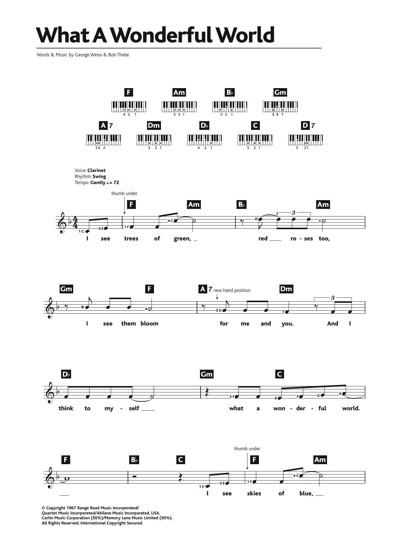 Somewhere over the rainbow chords for guitar