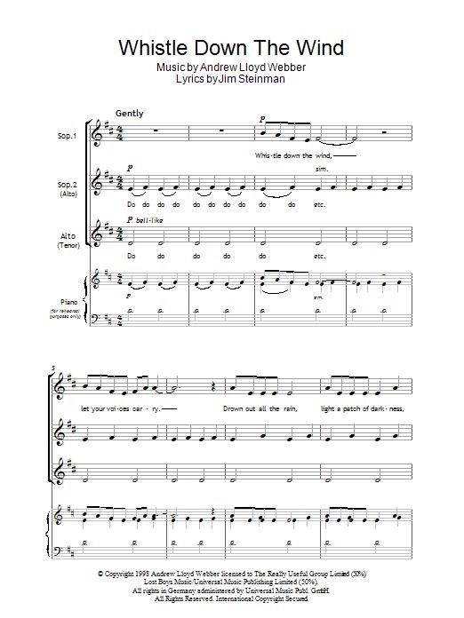 Whistle Down The Wind (SSA Choir)