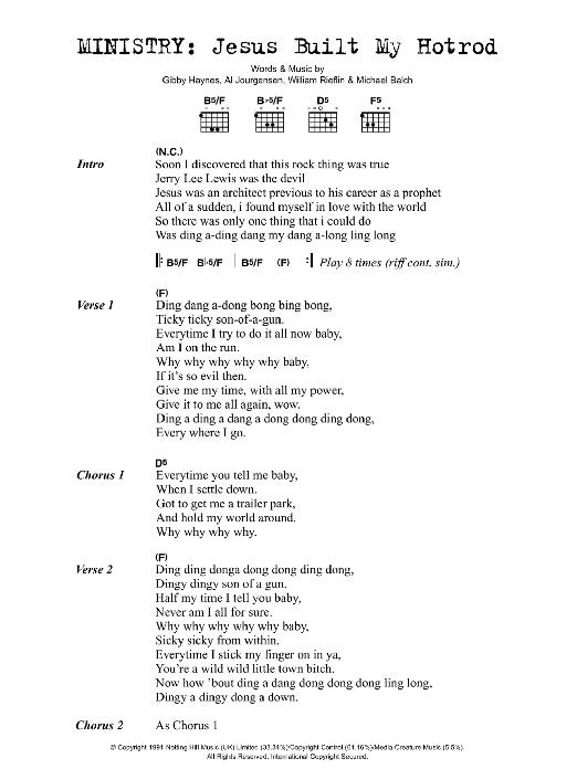 Jesus Built My Hotrod Sheet Music