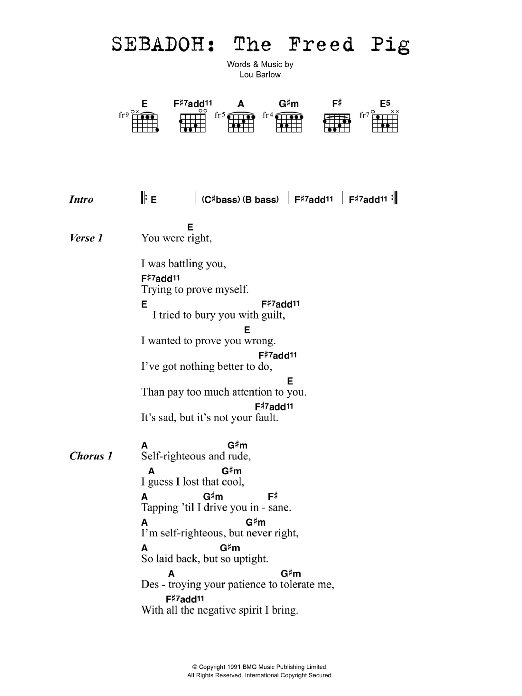The Freed Pig Sheet Music