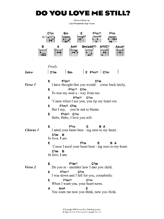 Do You Love Me Still? by The Kooks - Guitar Chords/Lyrics - Guitar ...