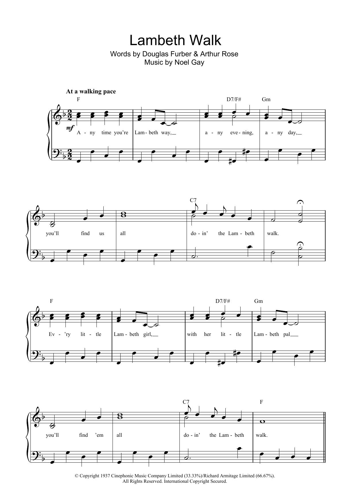 The Lambeth Walk (Piano & Vocal)