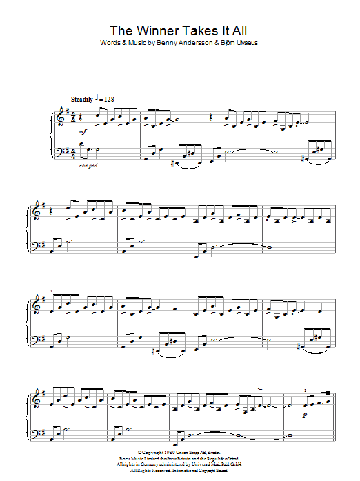 The Winner Takes It All (Piano Solo)