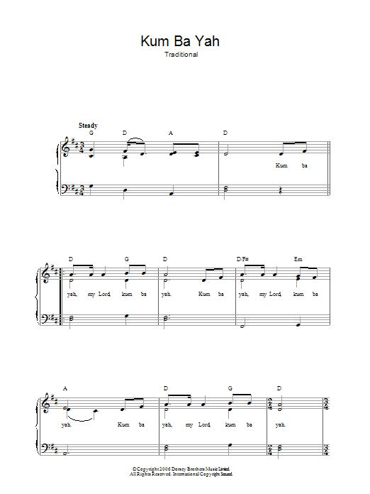 Kum Ba Yah Sheet Music