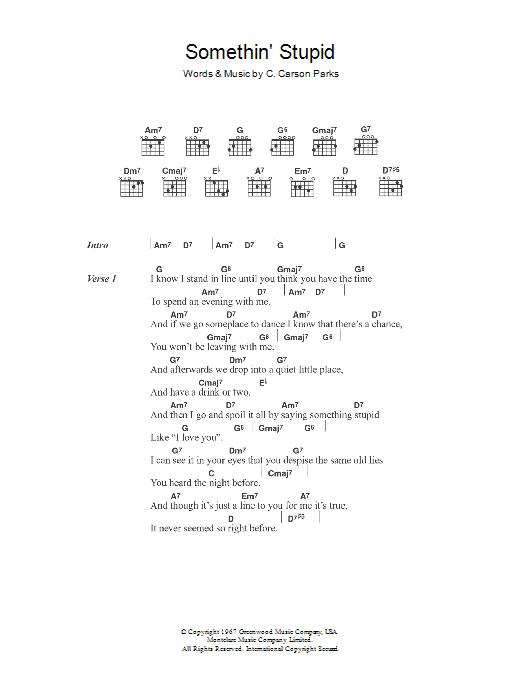 Somethin' Stupid Sheet Music