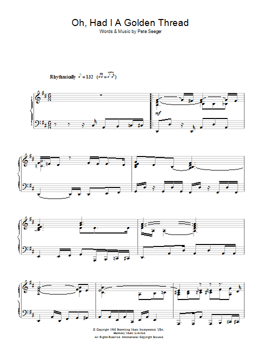 Oh, Had I A Golden Thread (Piano Solo)