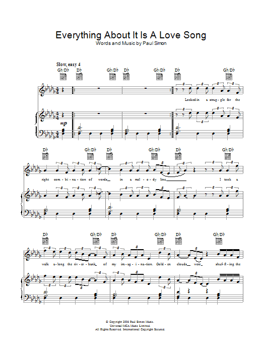Everything About It Is A Love Song Sheet Music