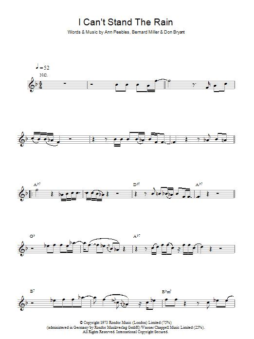 I Can't Stand The Rain (Alto Sax Solo)