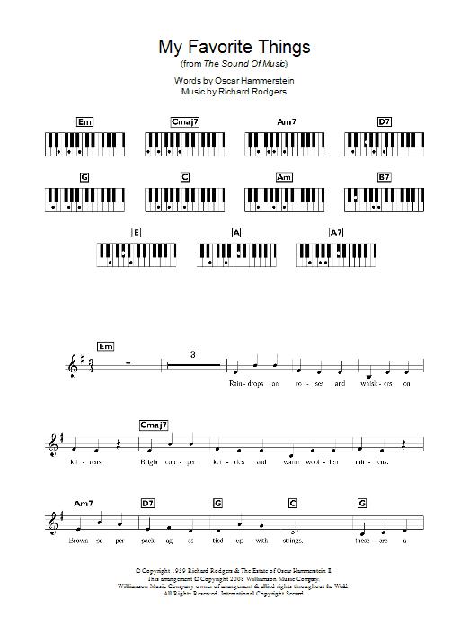 My Favorite Things (Piano Chords/Lyrics)