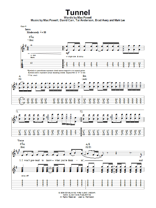 tunnel by third day guitar tab play along guitar instructor. Black Bedroom Furniture Sets. Home Design Ideas