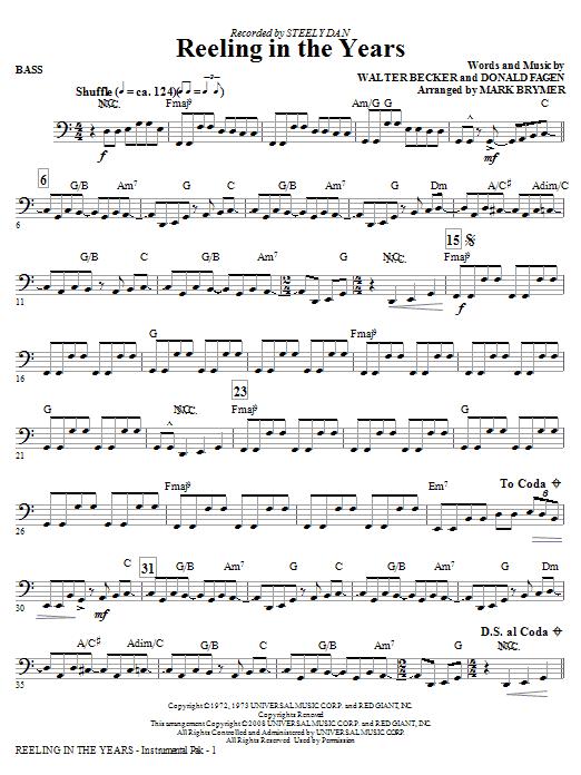 Reeling In The Years - Bass (Choir Instrumental Pak)