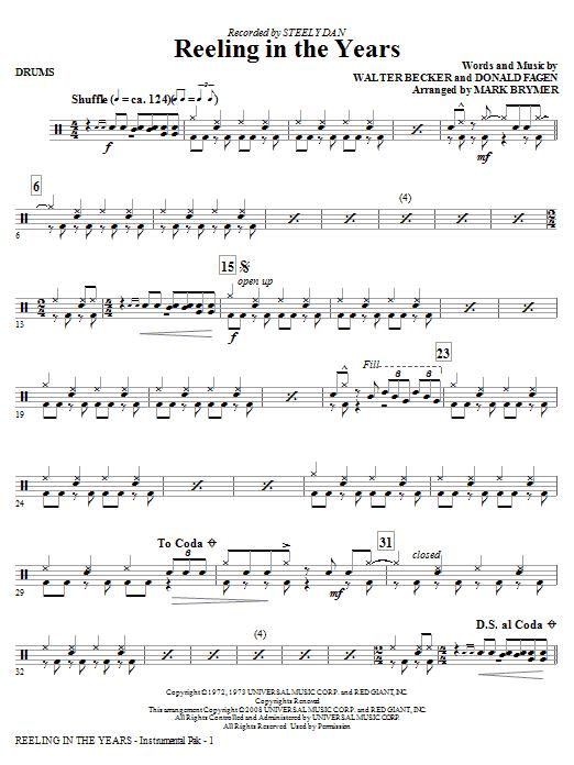 Reeling In The Years - Drums (Choir Instrumental Pak)