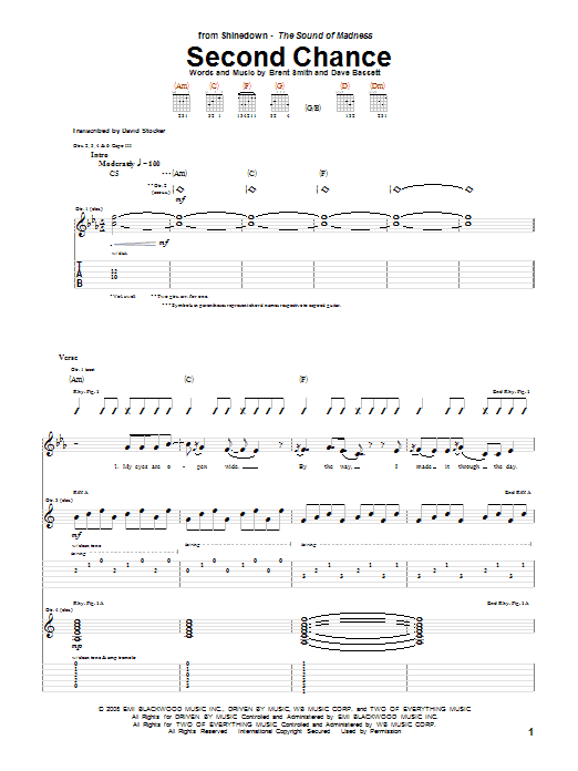Second Chance (Guitar Tab)