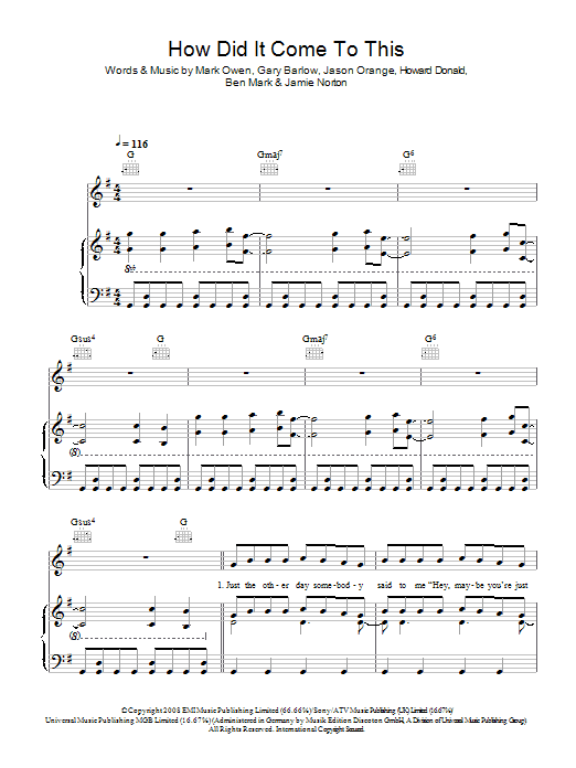 How Did It Come To This Sheet Music