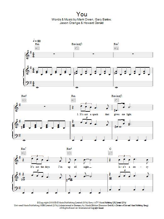 You (Piano, Vocal & Guitar)