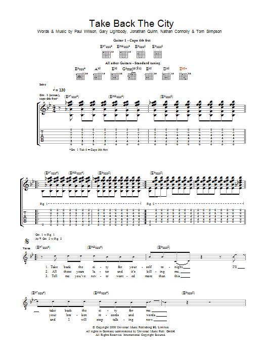 Take Back The City (Guitar Tab)