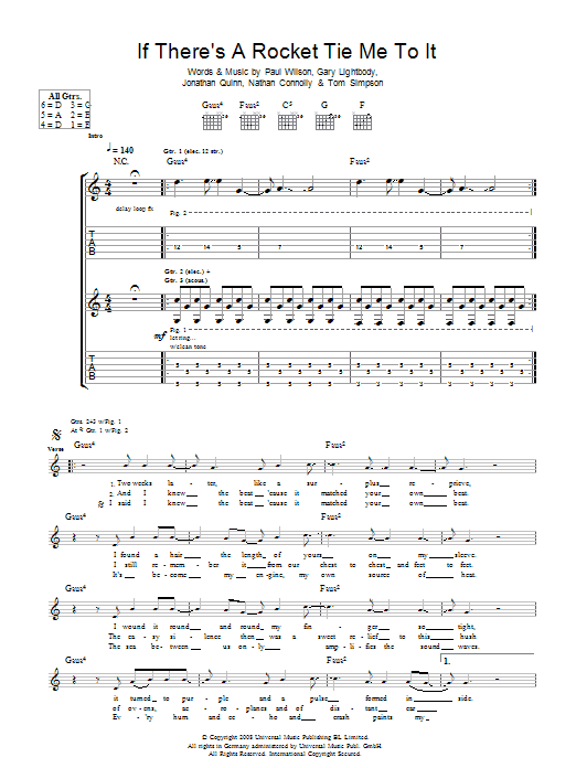 If There's A Rocket Tie Me To It (Guitar Tab)