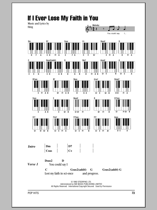 If I Ever Lose My Faith In You Sheet Music